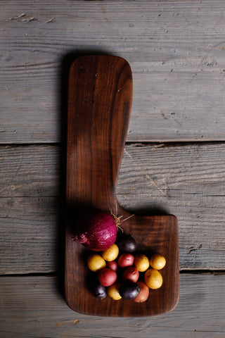 391. Black Walnut Wood Handmade Cutting Board for Serving by Lin Babb of Linwoodco.com