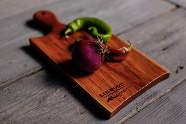 5. Cherry Wood Handcrafted Handmade Cutting Board