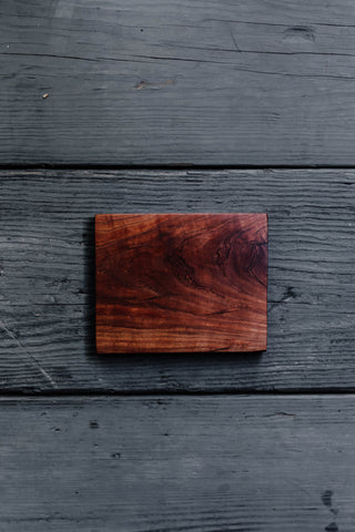 462. Handmade cherry wooden trivet by Lin Babb of Linwoodco.com