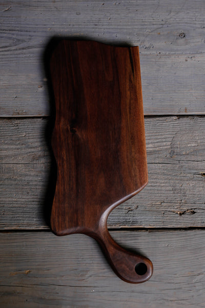 6. Black Walnut Wood Handmade Cutting Board for Serving