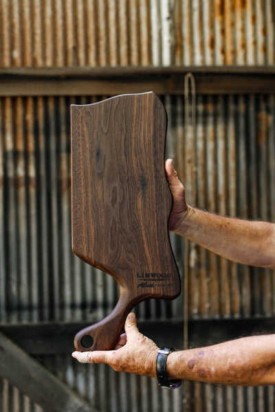 7. Black Walnut Wood Handmade Cutting Board for Serving