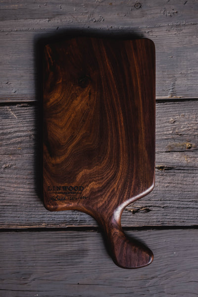 1. Large Black Walnut Wood Handmade Cutting Board