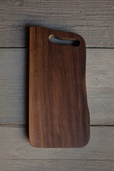 407. Black Walnut Wood Handmade Cutting Board for Serving by Lin Babb of Linwoodco.com
