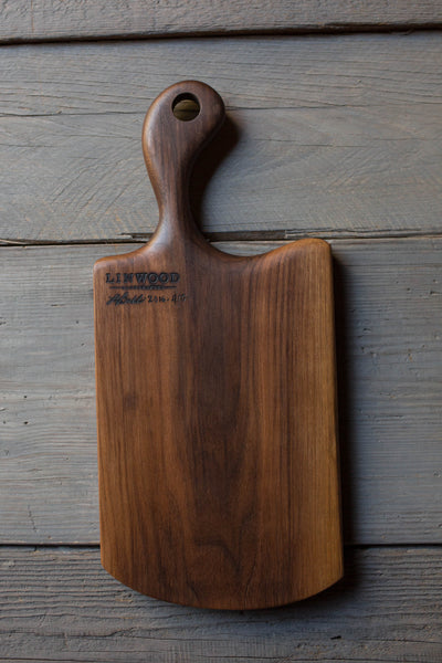 410. Black Walnut Wood Handmade Cutting Board for Serving by Lin Babb of Linwoodco.com