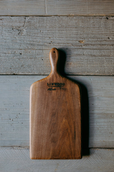 433. Handmade Black Walnut Wood Cutting Board by Lin Babb of Linwoodco.com