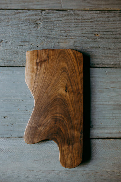 435. Handmade Black Walnut Wood Cutting Board by Lin Babb of Linwoodco.com