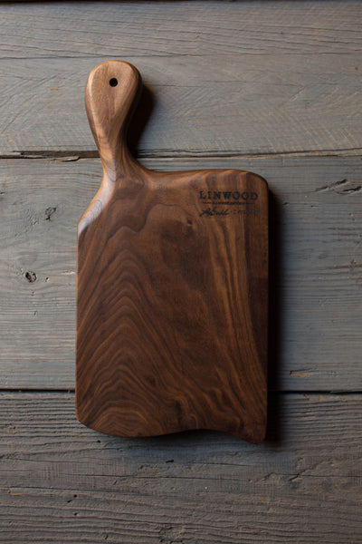 444. Handmade Dark Walnut Cutting Board by Lin Babb of linwoodco.com