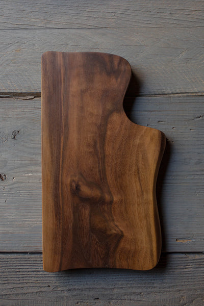 445. Handmade Black Walnut Wood Cutting Board by Lin Babb of Linwoodco.com