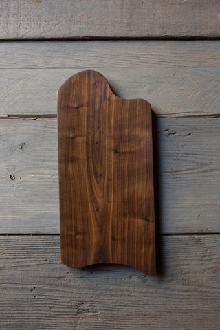 447. Black Walnut Handmade Cutting Board Cheese Plate by Lin Babb of Linwoodco.com