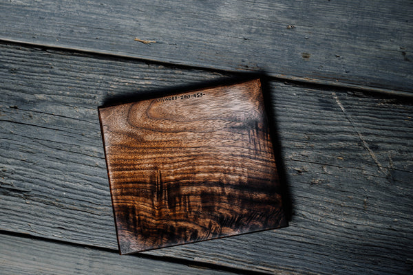 453. Handmade black walnut wooden trivet by Lin Babb of Linwoodco.com