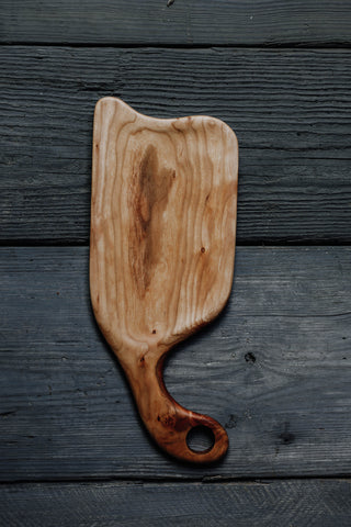 459. Handmade maple wood serving board for cheese and crackers by Lin Babb of Linwoodco.com