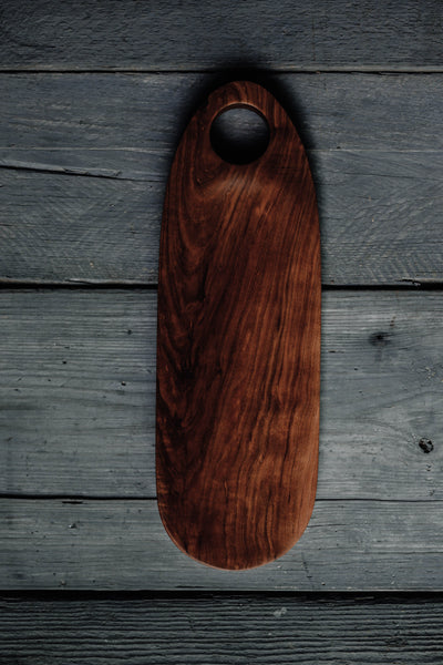 461. Handmade cherry wood serving board for cheese and crackers by Lin Babb of Linwoodco.com