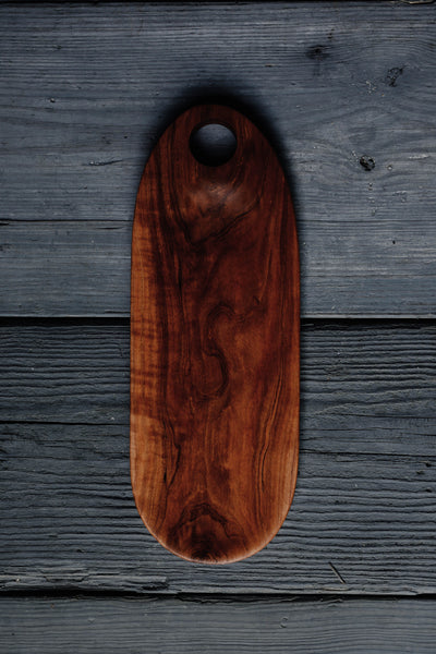 464. Handmade cherry wood serving board for cheese and crackers by Lin Babb of Linwoodco.com