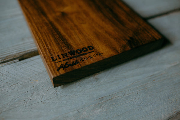 474. Handmade Black Walnut Wood Serving Board by Lin Babb of Linwoodco.com
