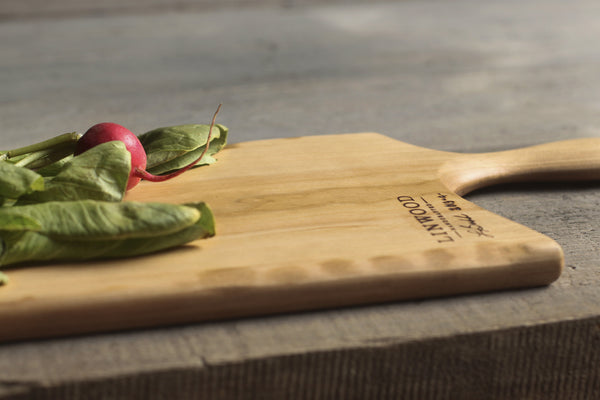 4. Cherry Wood Handcrafted Handmade Cutting Board by Linwood