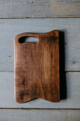 527. Handmade Black Walnut Serving Board by Lin Babb of Linwoodco.com