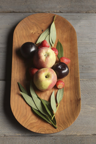 61B. Cherry Wood Serving Tray