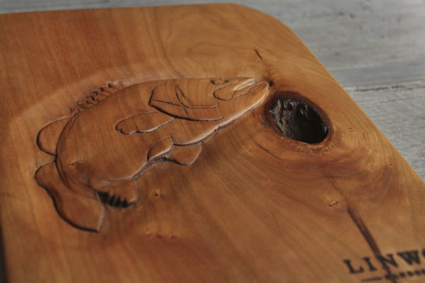 63. Carved Fish Cutting Board