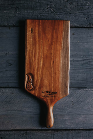 96. Handmade Carved Cherry Wood Cutting Board by Linwood