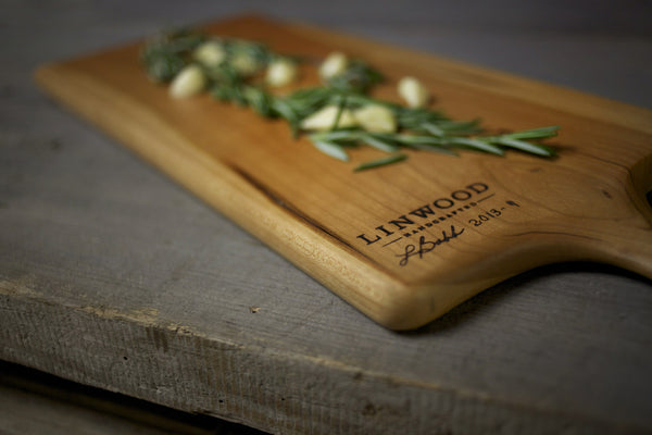 9. Handmade Cherry Wood Cutting Board by Lin Babb of Linwood