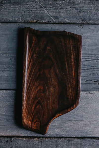 415. Handmade Black Walnut Wood Serving and Cutting Board by Linwood