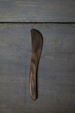 18. Handmade Black Walnut Wood Spreading Knife by Lin Babb of Linwood