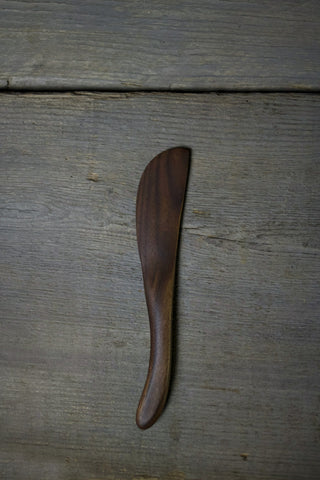 20. Handmade Black Walnut Wood Spreading Knife by Lin Babb of Linwood