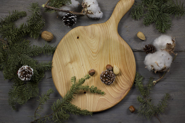 281. Handmade Wood Platter, Serving Board, Cutting Board out of Cypress Wood by Lin Babb of Linwood
