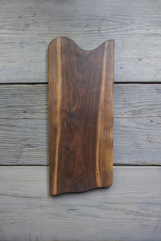 214. Handmade black walnut wooden cutting board and blonde streak