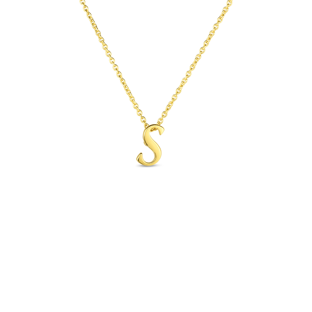 Roberto Coin 18kt yellow gold Tiny Treasures small script inital