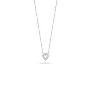 "Roberto Coin 18 karat white gold Tiny Treasures  diamond baby heart pendant 16-18"", D=0.11tw"
