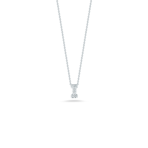 "Roberto Coin 18 karat white gold Tiny Treasures diamond block Love Letter ""I"" pendant 16-18"",  D=0.03tw"