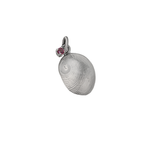 "Load image into Gallery viewer, 10 October ""Birthshell"": Sterling Silver Charm: The Baby's Ear with Tourmaline"