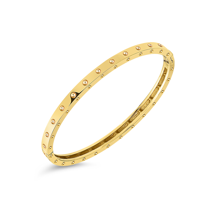 Roberto Coin 18 karat yellow gold Symphony Pois Moi Bangle 48x58