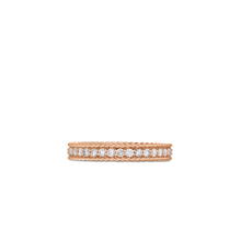 Load image into Gallery viewer, Roberto Coin 18 karat rose gold Symphony Princess Diamond Ring, D=0.43tw