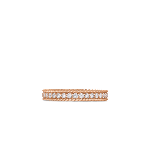 Roberto Coin 18 karat rose gold Symphony Princess Diamond Ring, D=0.43tw