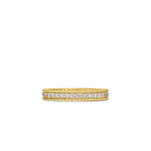 Load image into Gallery viewer, Roberto Coin 18 karat yellow gold Symphony Princess Diamond Ring, D=0.43tw