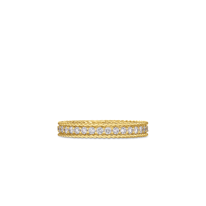 Roberto Coin 18 karat yellow gold Symphony Princess Diamond Ring, D=0.43tw