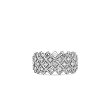 Load image into Gallery viewer, Roberto Coin 18 karat white gold 3 row Roman Barocco Diamond Ring, D=0.72tw
