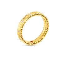Load image into Gallery viewer, Roberto Coin 18 karat yellow gold Symphony Princess Diamond Ring, D=0.13tw