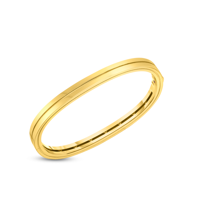 Roberto Coin 18 karat yellow gold 2 Row Portofino Bangle 46X56