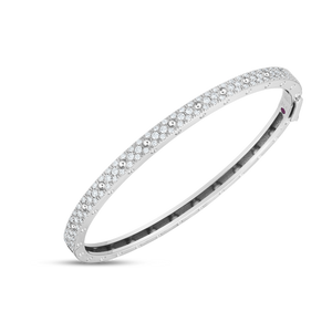 Roberto Coin 18 karat white gold Symphony Pois Moi DIamond Bangle, D=0.90tw