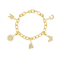 Load image into Gallery viewer, Roberto Coin 18 karat yellow gold Oval Link Designer Gold Bracelet
