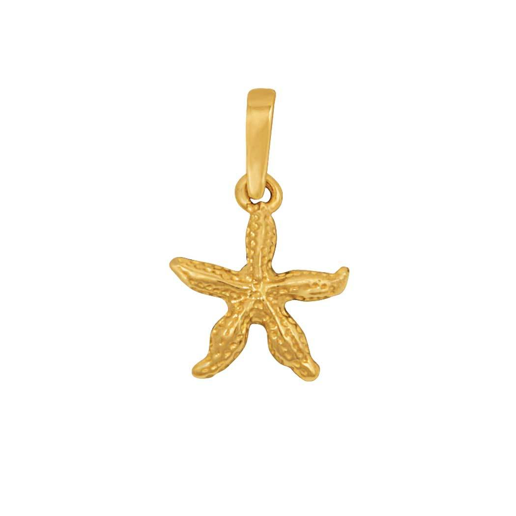 14k Yellow Gold Small Starfish Pendant