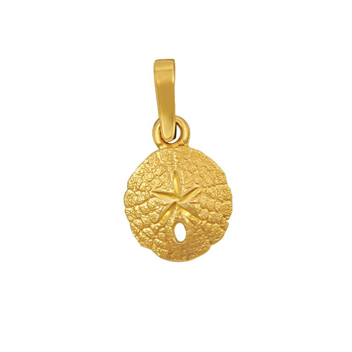 14k Yellow Gold 11mm Sanddollar Pendant