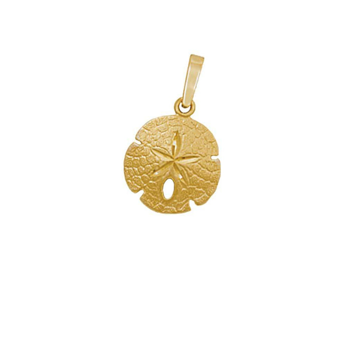 14k Yellow Gold 14mm Sanddollar Pendant