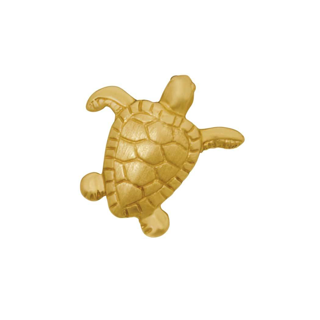 14k Yellow Gold Small Turtle Pendant