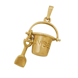 14k Yellow Gold Mini Sanibel Bucket Pendant
