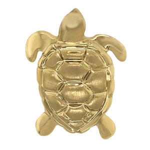 14k Yellow Gold Large Turtle Pendant