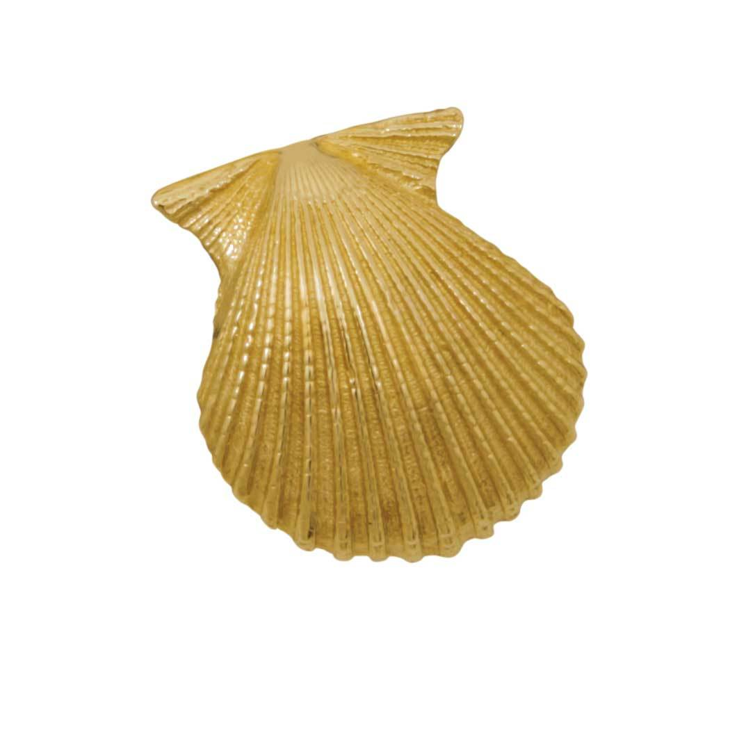 14k Yellow Gold Scallop Shell Pendant